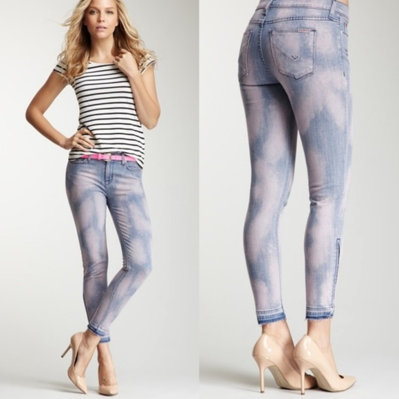 Hudson Jeans Denim - Hudson crop midrise Nico, zips at ankle jeans